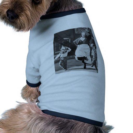 Dancing the day away doggie tshirt