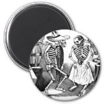 """""""Dancing the Jarabe in the Other World"""" 2 Inch Round Magnet"""