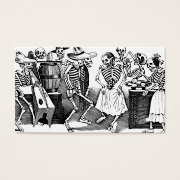 """Halloween Themed """"Dancing the Jarabe in the Other World"""" Business Card"""