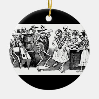 """""""Dancing the Jarabe in the Other World"""" Ceramic Ornament"""