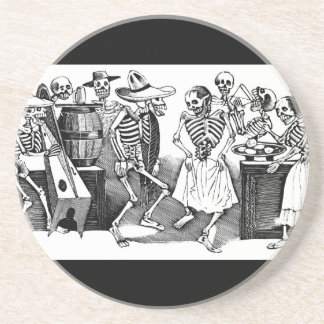 """Dancing the Jarabe in the Other World"" Drink Coaster"