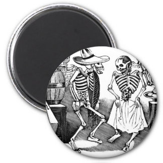 """Dancing the Jarabe in the Other World"" Refrigerator Magnet"