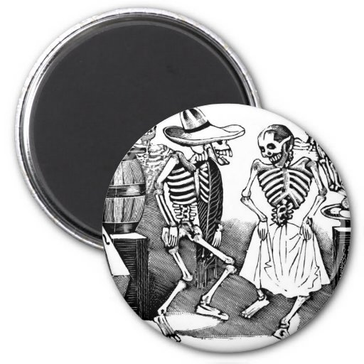 """""""Dancing the Jarabe in the Other World"""" Refrigerator Magnet"""