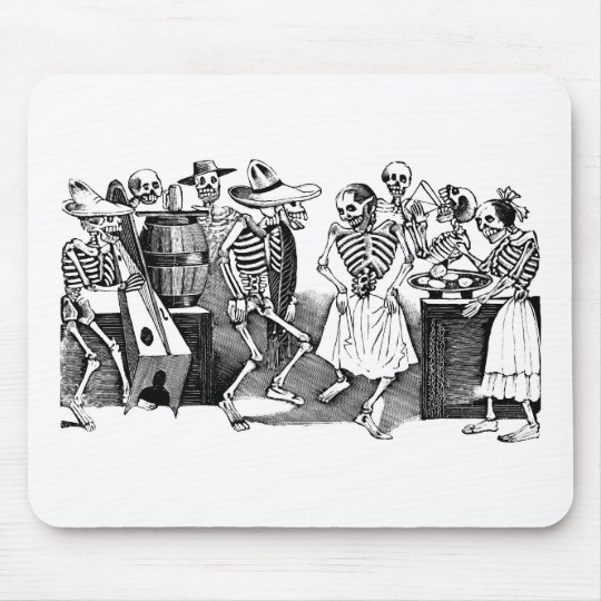 """Dancing the Jarabe in the Other World"" Mouse Pad"