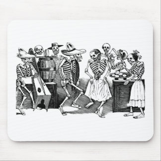 """""""Dancing the Jarabe in the Other World"""" Mouse Pad"""