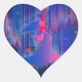 Dancing Through New Year Heart Sticker