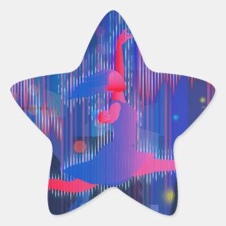 Dancing Through New Year Star Sticker