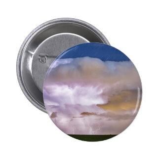 Dancing Thunderstorm on The Horizon Pinback Button