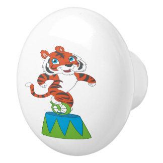 Dancing Tiger Ceramic Knob