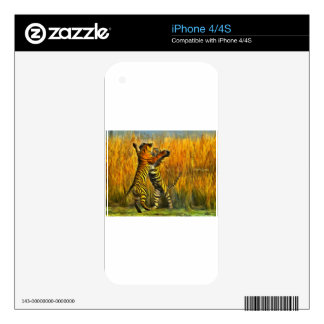 Dancing Tigers Decal For iPhone 4