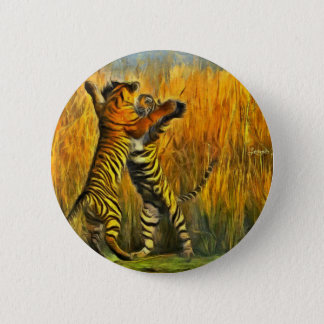 Dancing Tigers Pinback Button