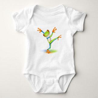 Dancing Tree Frog Baby Bodysuit