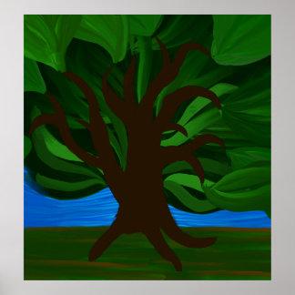 Dancing tree print