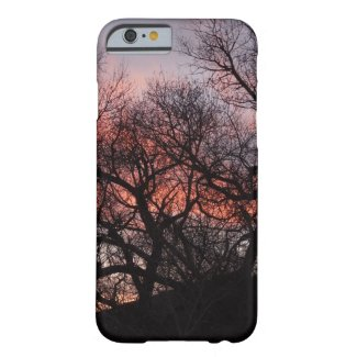 Dancing Tree Skeletons at Sunset Barely There iPhone 6 Case