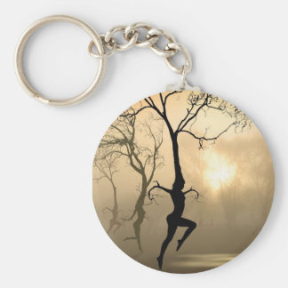Dancing Trees Basic Round Button Keychain