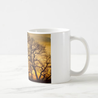 Dancing Trees Golden Sunset Mug