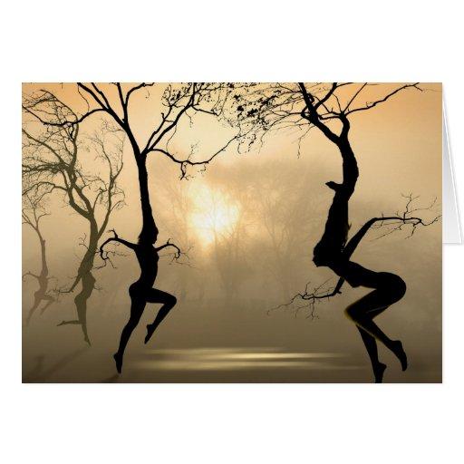 Dancing Trees Greeting Card