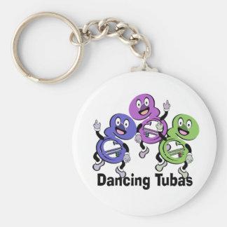 Dancing Tubas Basic Round Button Keychain