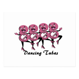 Dancing Tubas/ Pink Postcard