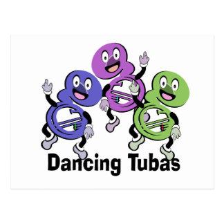 Dancing Tubas Postcard
