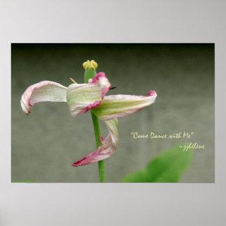 """""""Dancing Tulip"""" jjhelene Value Poster Paper Matte"""