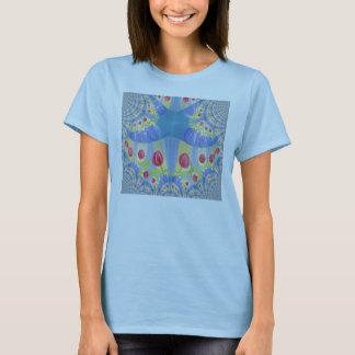 Dancing Tulips Fractal Art T-Shirt