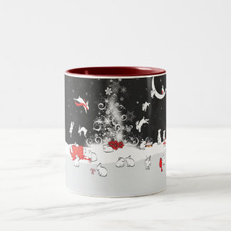 DANCING Two-Tone COFFEE MUG