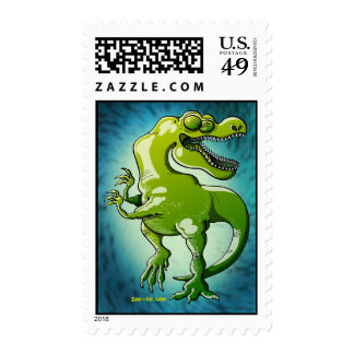 Dancing Tyrannosaurus Rex Postage Stamp