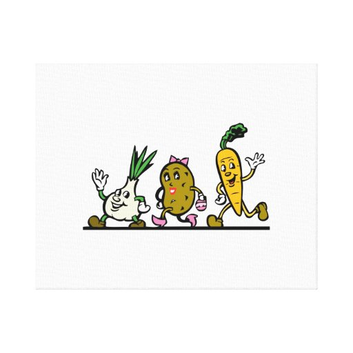 Dancing Vegetables Canvas Prints