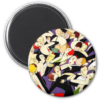Dancing Vintage Couples 2 Inch Round Magnet