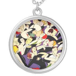 Dancing vintage couples pendants