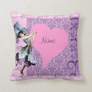 Dancing Vintage Flower Fairy Fantasy Design LeahG Pillows
