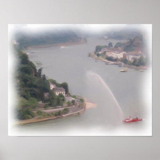 Dancing Water on the Rhein Posters