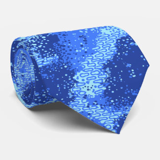 Dancing Waters Retro Abstract Two-sided Tie