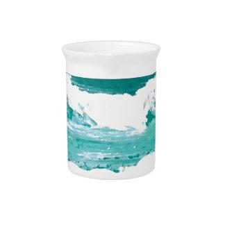 Dancing Waves Ocean Sea Waves Art Gifts Drink Pitchers