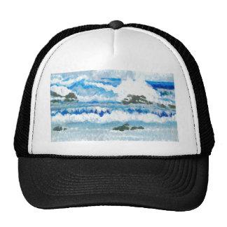 Dancing Waves on the Rocks CricketDiane Ocean A Hats
