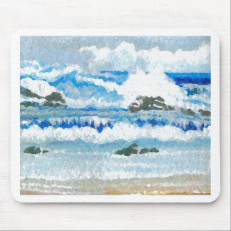 Dancing Waves on the Rocks  CricketDiane Ocean A Mouse Pad