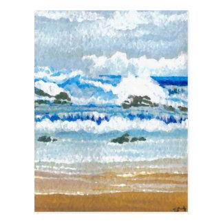 Dancing Waves on the Rocks  CricketDiane Ocean A Postcard