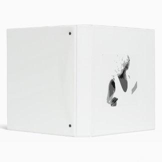 Dancing-White 3 Ring Binder
