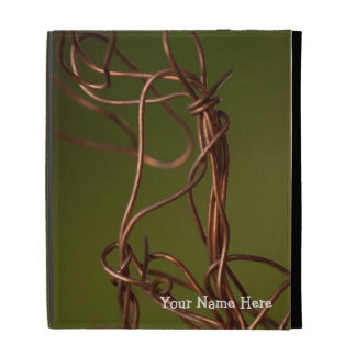 Dancing Wires; Customizable iPad Folio Case