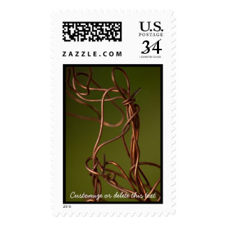 Dancing Wires; Customizable Postage Stamp