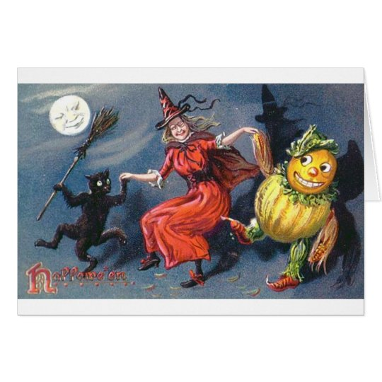 Dancing Witch in Moonlight Card