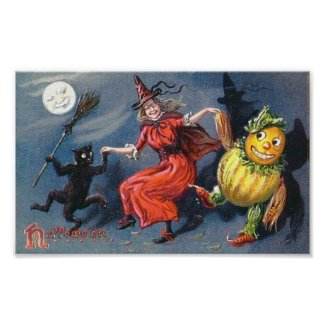 Dancing Witch in Moonlight print