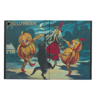 Dancing Witch Jack O' Lantern Monster Black Cat iPad Air Case
