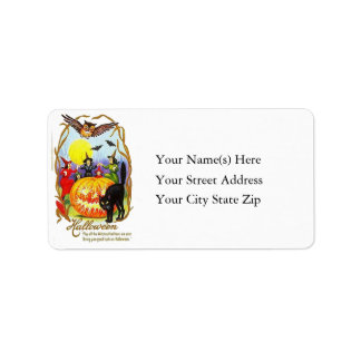 Dancing Witches Halloween Address Label