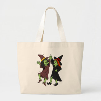 Dancing Witches Large Tote Bag
