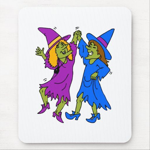 dancing witches mouse pad