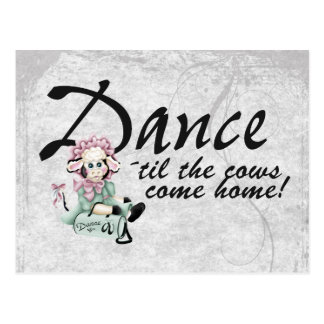 Dancing with Cows Postcard