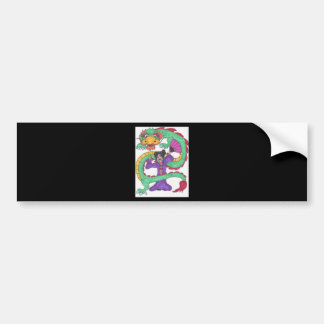 Dancing with Dragons Bumper Sticker