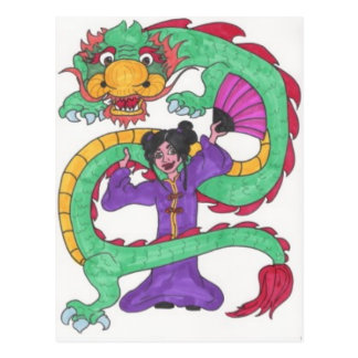 Dancing with Dragons Postcard